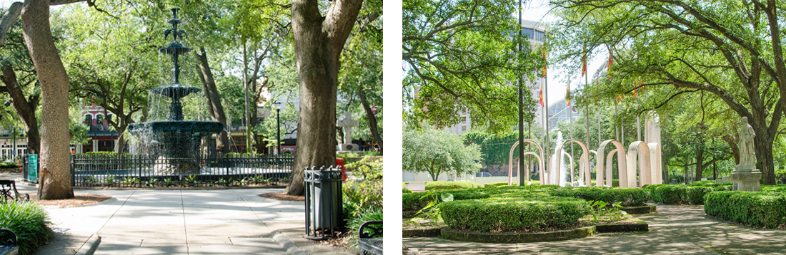 Bienville Park and Cathedral Square park